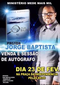 Teologia da Bacia, é a segunda obra do pastor Jorge Baptista.