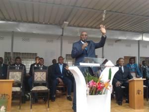 Reverendo Francisco Domingos Sebastião, presidente da Assembleia de Deus Maculusso